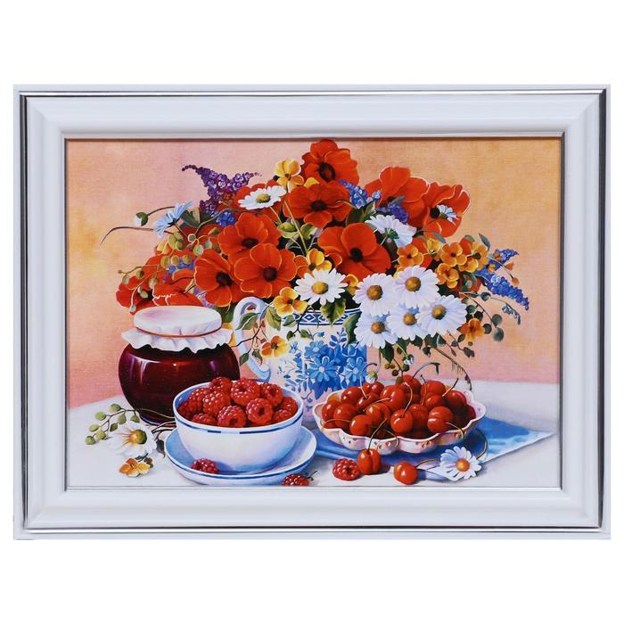 Картина Натюрморт с малиной 13х1816х21 см