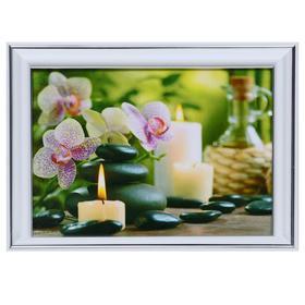 Картина 'Орхидеи и свечи' 13х18(16х21) см Ош