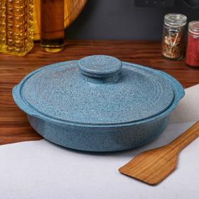 """Сковорода с ручками """"Гранит"""", синяя, 28 см"""