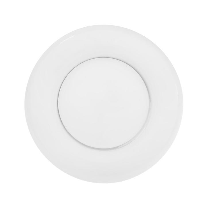 Анемостат VENTS АМ 100 ВРФ, d=100 мм, с фланцем, металлический, белый