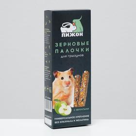 Зерновые палочки 'Пижон' для грызунов, с фруктами, 2 шт, 192 г Ош
