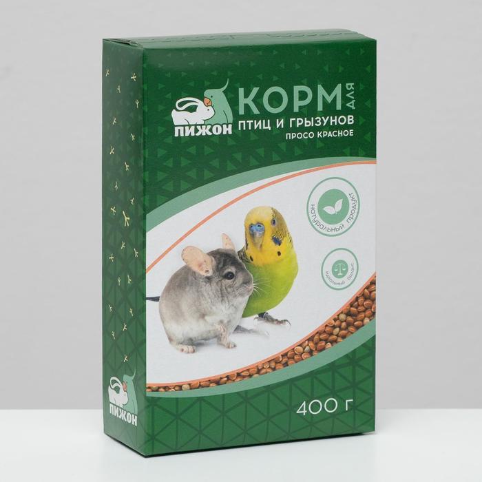 Корм Пижон просо красное, для птиц и грызунов, 400 г