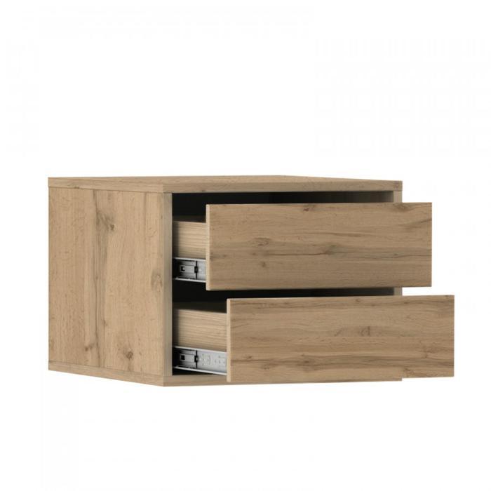 Блок ящиков для шкафов-купе 1400 × 600 мм и 2100 × 600 мм, цвет дуб вотан