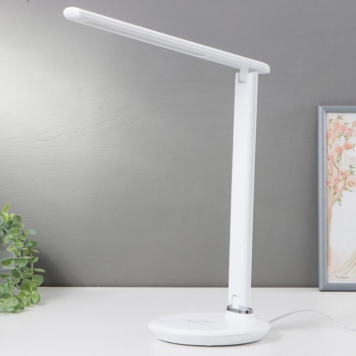 Настольная лампа DE520, 8Вт LED 3000-6400К, цвет белый
