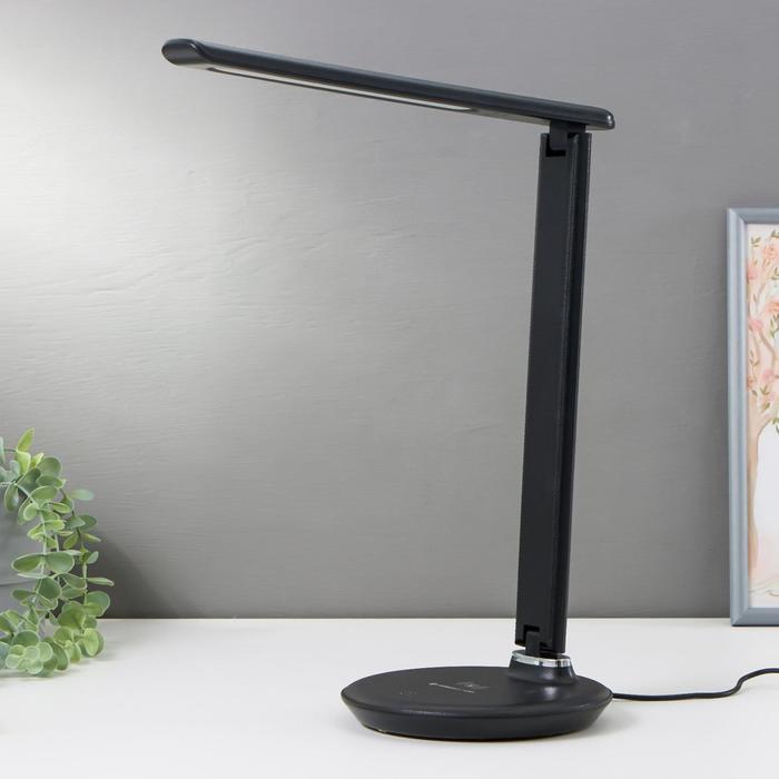 Настольная лампа DE521, 6Вт LED 3000-6400К, цвет чёрный