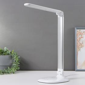 Настольная лампа DE524, 6Вт LED 3000-6400К, цвет серебро