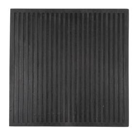 Коврик резиновый диэлектрический 50x50 см, цвет чёрный