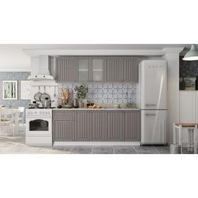 купить Кухонный гарнитур Хозяюшка 2000х600х2100 МДФ БелыйТрюфель
