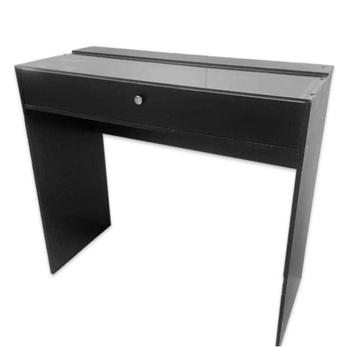 Гримерный стол со стеклом 1100*480*1000 1 ящик, цвет чёрный
