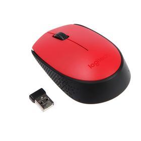 Мышь Logitech M171, беспроводная, оптическая, 1000 dpi, 2.4 ГГц, 1 x AA, USB, красная