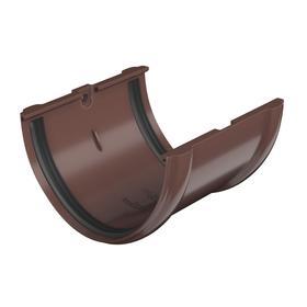 Соединитель желоба Технониколь ПВХ D125 коричневый Ош