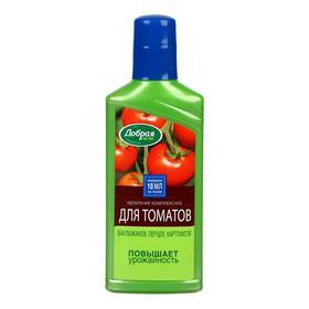 Жидкое органо-минеральное удобрение Добрая сила для томатов, баклажанов, перцев, 250 мл