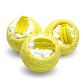"Бомбочка для ванн Bomb Master ""Бананчики"" желтая, 130 гр."
