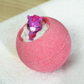 "Бомбочка для ванн Bomb Master ""Веселые зверята"" красная, 130 гр."