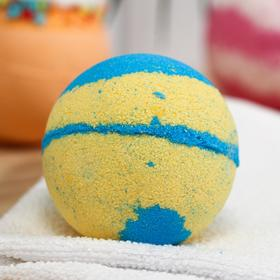 "Бомбочка для ванн Bomb Master "" Бурлящие планеты"", 130 гр. голубой"