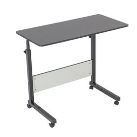 Стол для компьютера с полкой, 800х400х680(910) с регулировкой высоты, Черный Ош