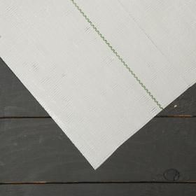 Агроткань застилочная, с разметкой, 10 × 1,55 м, плотность 100 г/м², полипропилен, белая, колышки - 12 шт., Nacsan Ош