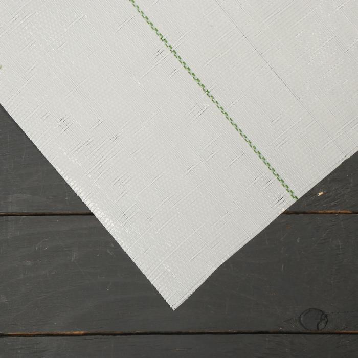 Агроткань застилочная, с разметкой, 10 × 1,55 м, плотность 100 г/м², полипропилен, белая, колышки - 12 шт., Nacsan