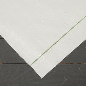 Агроткань застилочная, с разметкой, 5 × 1,55 м, плотность 100 г/м², полипропилен, белая, колышки - 12 шт., Nacsan Ош