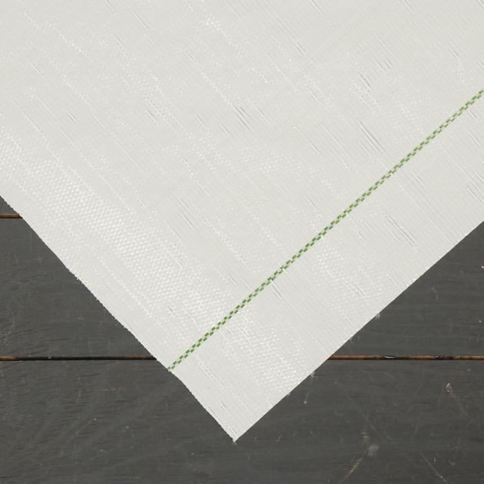 Агроткань застилочная, с разметкой, 5 × 1,55 м, плотность 100 г/м², полипропилен, белая, колышки - 12 шт., Nacsan
