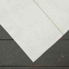 Агроткань застилочная, с разметкой, 5 × 2,1 м, плотность 100 г/м², полипропилен, белая, колышки - 10 шт., Nacsan Ош