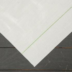 Агроткань застилочная, с разметкой, 5 × 3,15 м, плотность 100 г/м², полипропилен, белая, колышки - 10 шт., Nacsan Ош