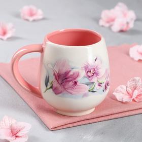 """Кружка """"Чайная"""", деколь цветы, 0.4 л, микс"""