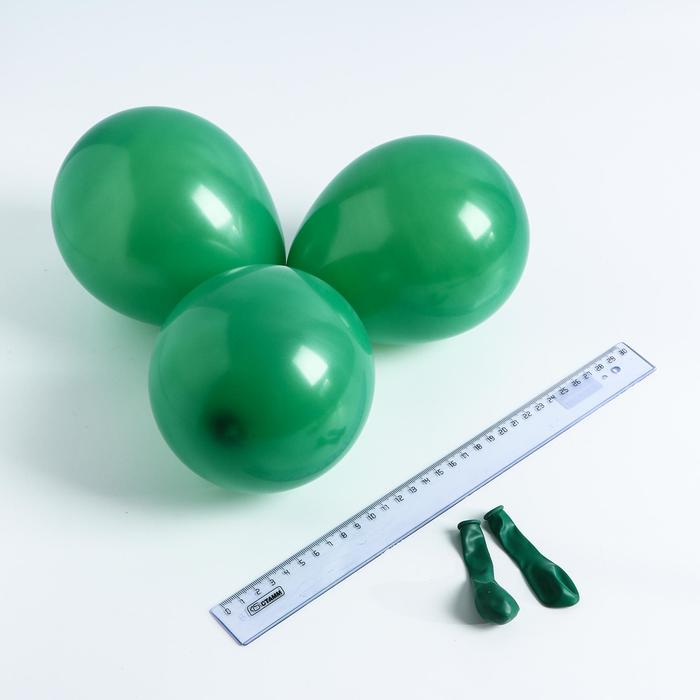 Шар латексный 5, стандарт, водные бомбочки, набор 100 шт., цвет темно-зелёный