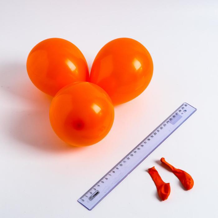 Шар латексный 5, стандарт, водные бомбочки, набор 100 шт., цвет оранжевый