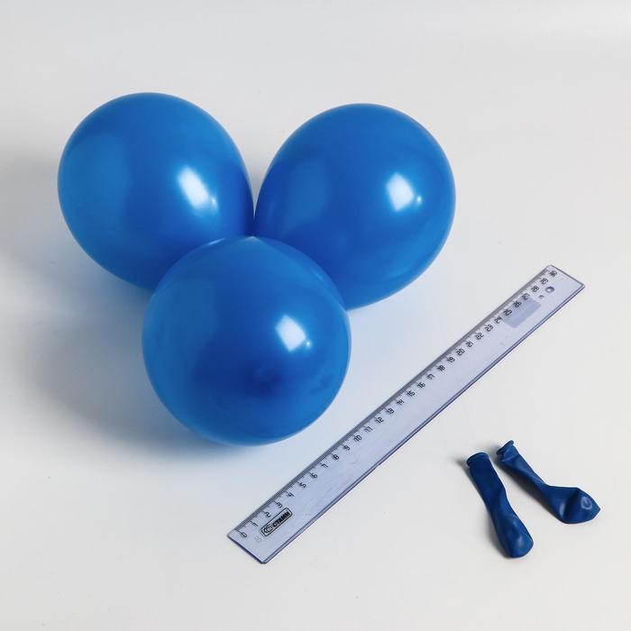 Шар латексный 5, стандарт, водные бомбочки, набор 100 шт., цвет синий