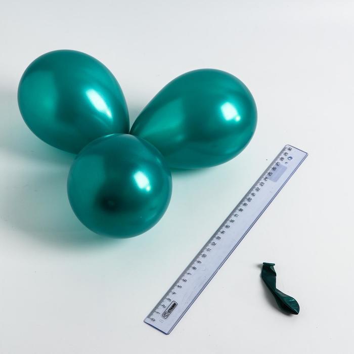 Шар латексный 5, перламутровый, водные бомбочки, набор 100 шт., цвет зелёный