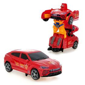Робот 'Автобот', трансформируется, световые и звуковые эффекты, работает от батареек, МИКС, в пакете Ош