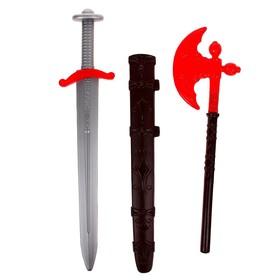 Набор «Ратник», секира и меч с чехлом