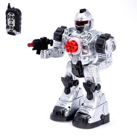 Робот радиоуправляемый «Космосолдат», световые и звуковые эффекты, цвет серый