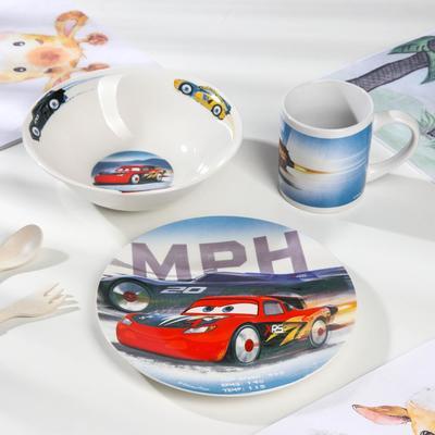Набор посуды ND PLAY «Тачки», 3 предмета - Фото 1