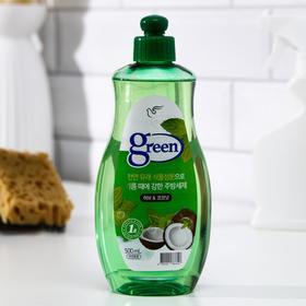 Средство для мытья посуды, Green, Травы и кокос (на натуральной основе) 500 мл / 12
