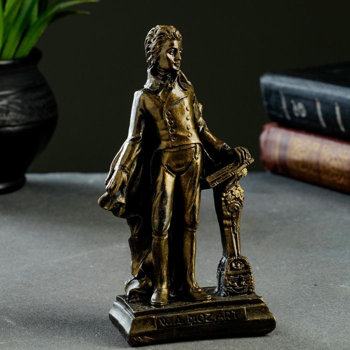 Статуэтка Моцарт состаренная латунь, 15х8х5 см