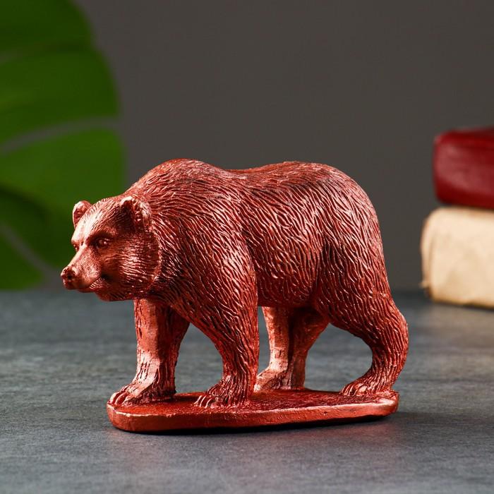 Статуэтка Медведь медь, 9х11х5 см