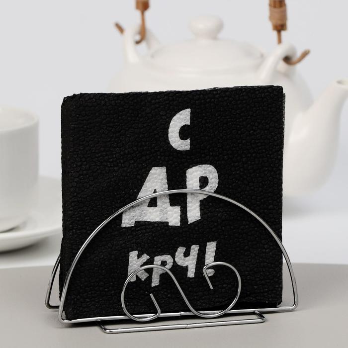 Салфетки бумажные однослойные Гармония цвета С ДР КРЧ, 24х24 100 шт. уп