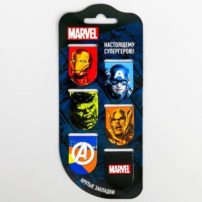 """Открытка с магнитными закладками  """"Супергерои"""", Мстители, 6 шт. - Фото 1"""