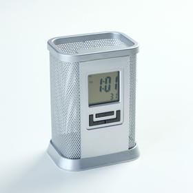 Часы-органайзер под ручки, с календарём, будильником, секундомером, LR44 Ош