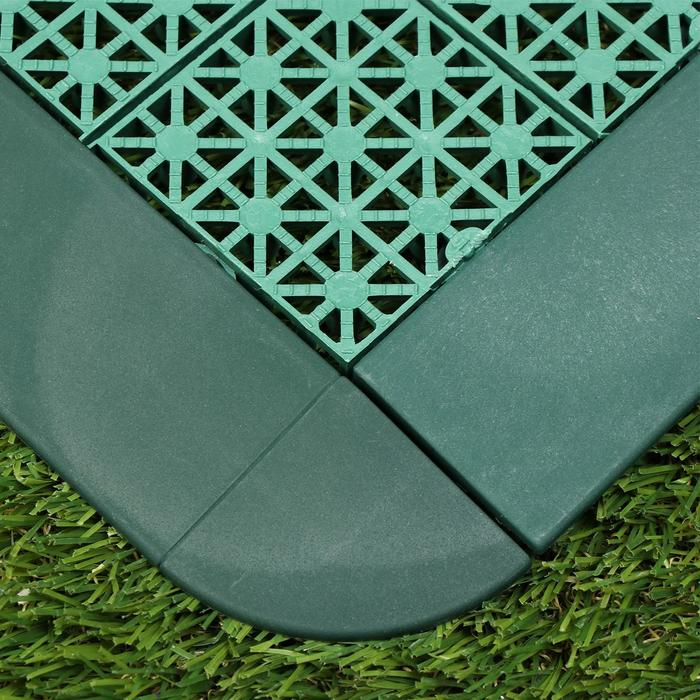 Плинтус угловой для модульной плитки, 1 шт, зелёный