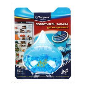 Поглотитель запаха для холодильника Topperr гелевый Голубой лед