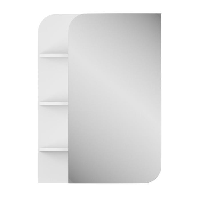 """Зеркало-шкаф """"Лина"""" 50 см полки слева белое"""