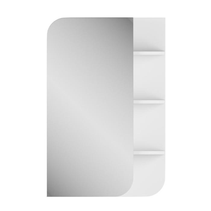 "Зеркало-шкаф ""Лина"" 50 см полки справа белое"