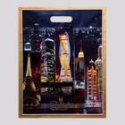 """Пакет """"Городские огни"""", полиэтиленовый с вырубной ручкой, 38х47 см, 60 мкм - Фото 1"""