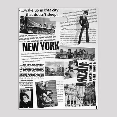 """Пакет """"Газета"""", полиэтиленовый с вырубной ручкой, 41х51 см, 80 мкм - Фото 1"""