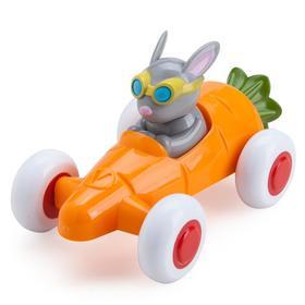 Машинка-морковка с зайчиком, в подарочной упаковке
