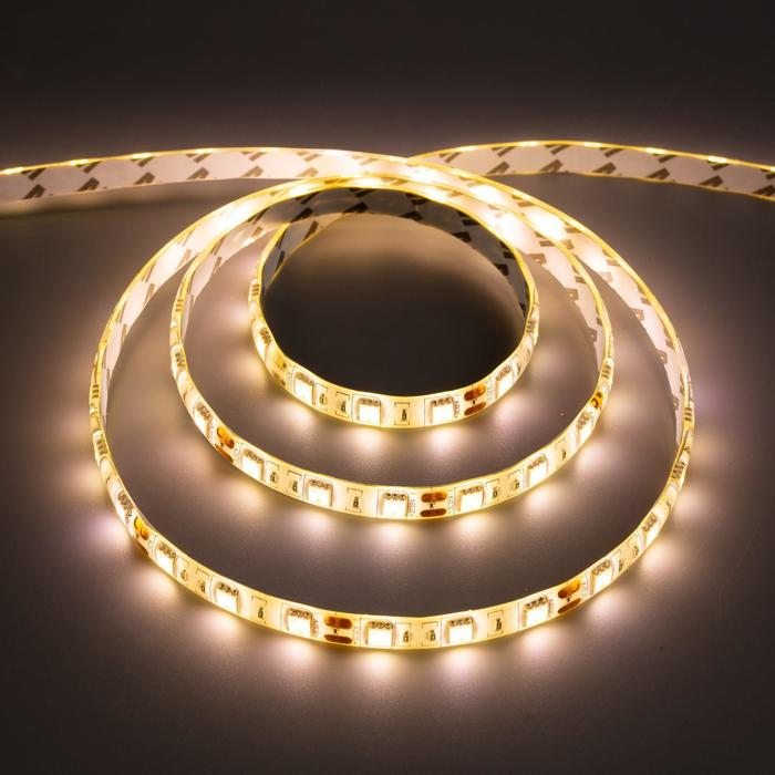 Комплект светодиодной ленты URM, 5050, 60 LED/м, 14.4 Вт/м, 12В, IP65, 3000К, 3 м