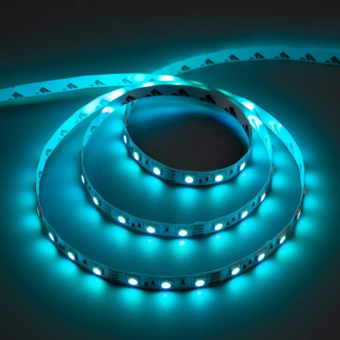 Комплект светодиодной ленты URM, 5050, 60 LED/м, 14.4 Вт/м, 12В, IP20, RGB, 5 м